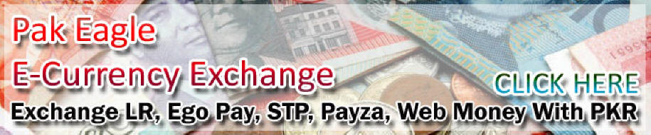 Exchange LR, STP, Payza, EGO PAY, Web Money To PKR In Pakistan